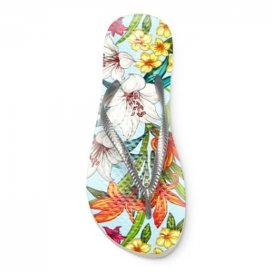 VIONIC BEACH NOOSA L/BLUE FLORAL/SILVER - Click for more info