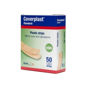 Coverplast Plastic Strips 1.9cm x 7.2cm - Box 50
