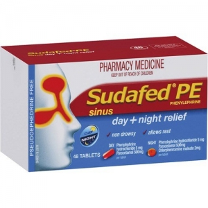 Sudafed Pe Day + Night Relief Tablets - Pack 48 - Click for more info