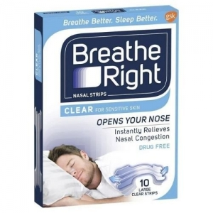 Breathe Right Nasal Strips Clear - Pack 10