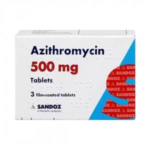 Azithromycin Sandoz 500mg Tablets - Pack 2
