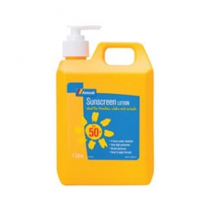 Amcal SUNSCREEN LOTION  50+    1lt - Click for more info