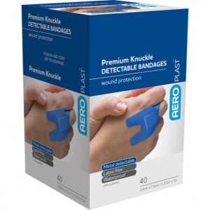 AEROPLAST DETECTABLE KNUCKLE DRESSINGS- Box 50 - Click for more info
