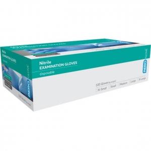 Aero Nitrile Examination Glove Powder Free Blue Medium -  Box 100