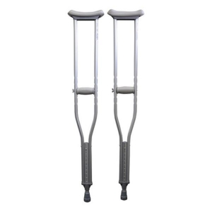 Crutches Under Arm Aluminium Youth 4ft 7inch - 5ft 3inch Pair - Click for more info