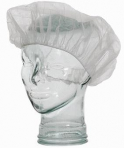 Bouffant Cap Crimped White - Pack 100 - Click for more info