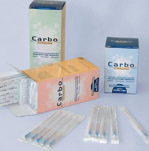 Carbo Acupuncture Needles With Guide Tube - Click for more info