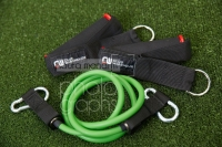 CW Exercise Tubing Green Medium (With Door Anchor & Pair Handles) - Click for more info