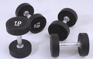 Round Rubber Dumbbell - Each