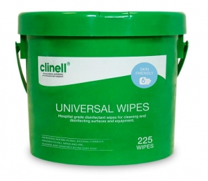 Clinell Universal Wipes - Tub 225 - Click for more info