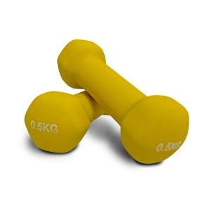 Club Warehouse Vinyl Dumbbells 0.5kg Pair - Pink - Click for more info