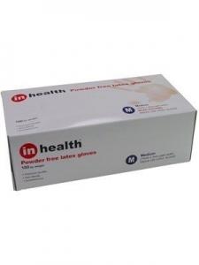 Gloves Latex Powder Free In Health Box 100