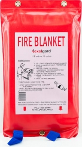 Fire Blanket In Soft Pouch 1.2m x 1.8m - Click for more info