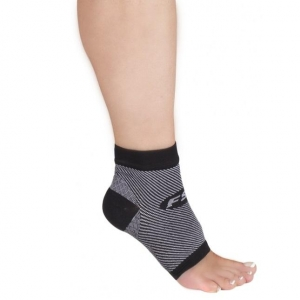 Orthosleeve FS-6 Compression Foot Sleeve Black- Pair - Click for more info