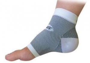 Orthosleeve FS-6 Compression Foot Sleeve White Pair - Click for more info