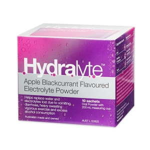 Hydralyte Apple/Blackcurrent Powder 5g Sachets - Box 10 - Click for more info