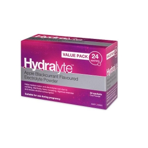Hydralyte Value Pack Apple/Blackcurrent 24x24 Sachet - Carton 576