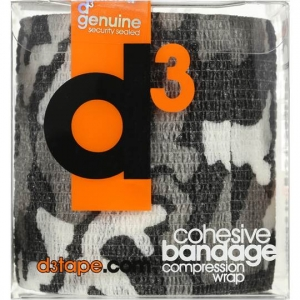 D3 COHESIVE BANDAGE 7.5CM X 9M BOX 16 (R13CM_Each CAMO GREY)