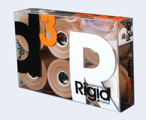 D3 RIGID TAPE 38MM X 13.7M RETAILPACK 6 rolls - Click for more info