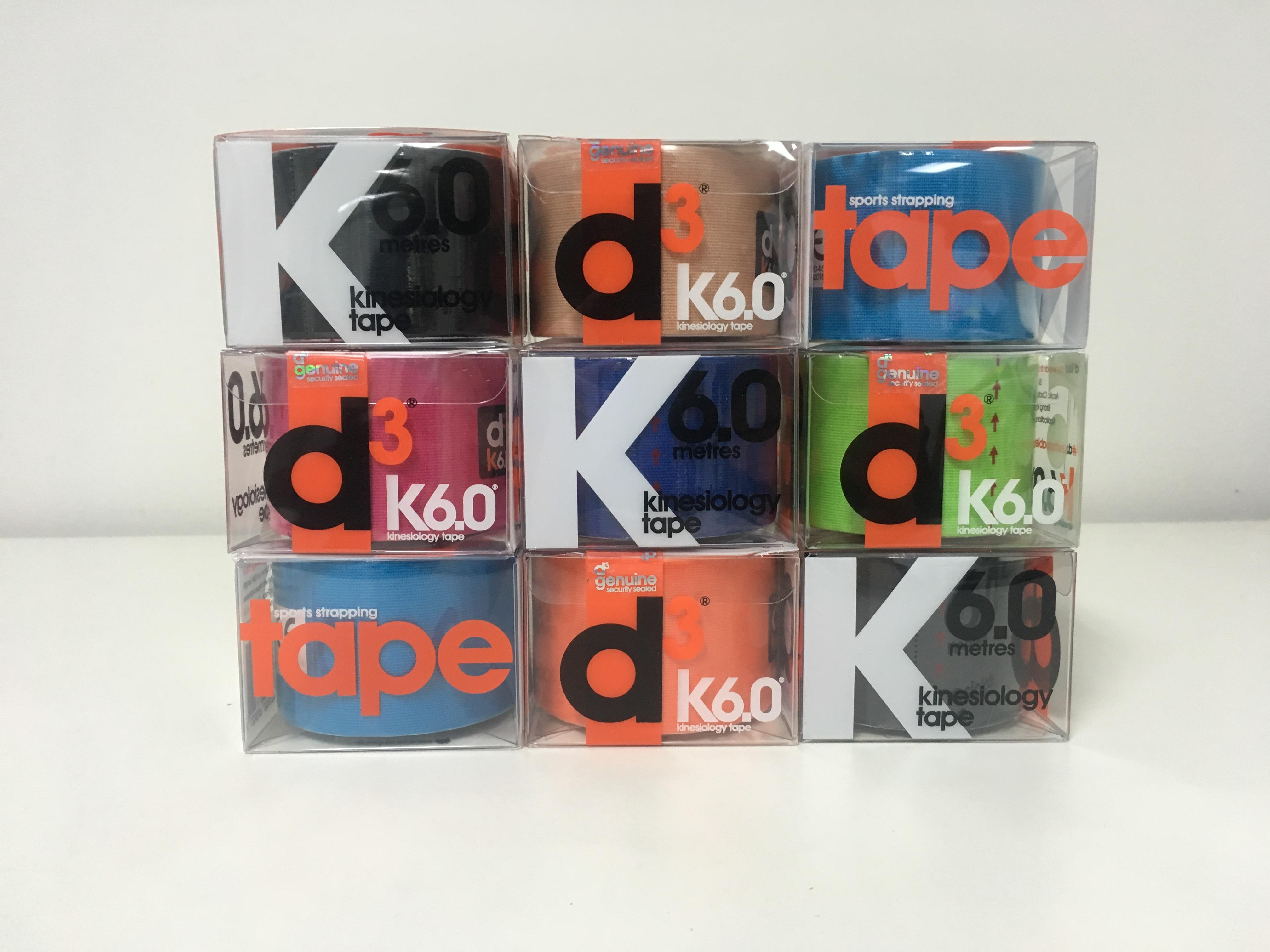 D3 Kinesio Tape - Mixed Retail Pack 9 Rolls - Click for more info