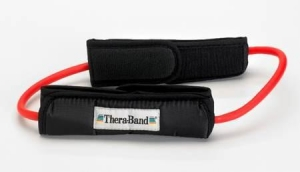 Theraband Tubing Loop & Padded Cuffs Red Medium - Click for more info