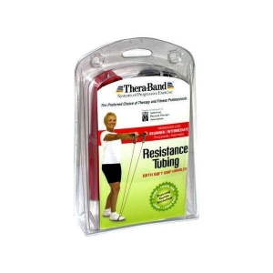 Theraband Tubing Soft Grip Handles Red - Click for more info