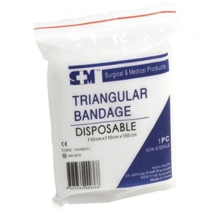 DISPOSABLE TRIANGULAR BANDAGE - Click for more info