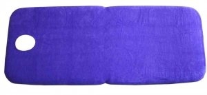 FIRM-N-FOLD TERRY TOWELLING SHEET WITH FACE HOLE- Navy - Click for more info